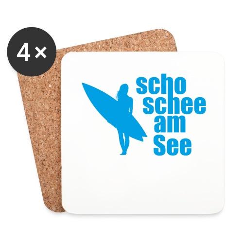 scho schee am See Surferin 03 - Untersetzer (4er-Set)