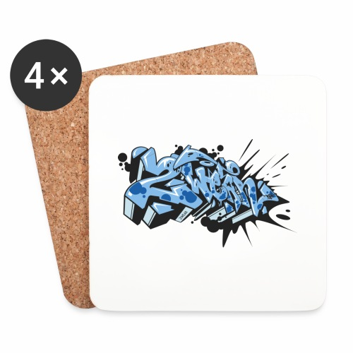 2wear blue dae √ - Glasbrikker (sæt med 4 stk.)