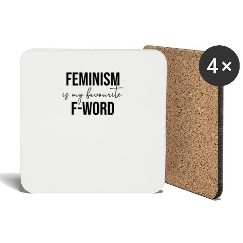 FEMINISM IS MY FAVOURITE F-WORD - Feminismus cool - Untersetzer (4er-Set)