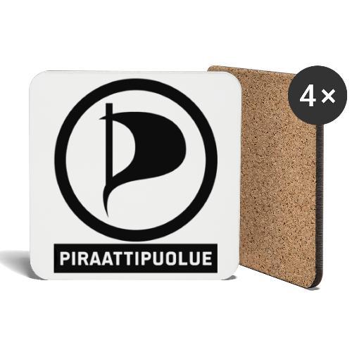 Piraattipuolue - Lasinalustat (4 kpl:n setti)
