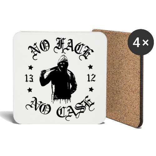 No Face, No Case - iso printti - Lasinalustat (4 kpl:n setti)