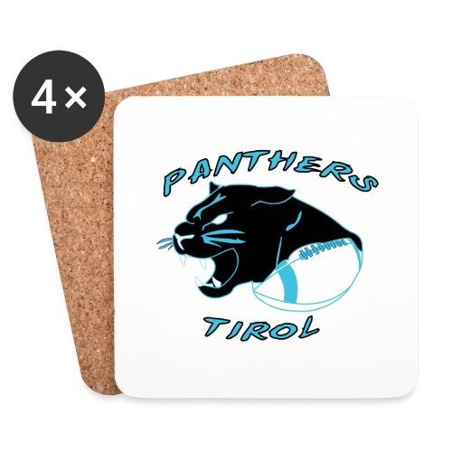 Panthers Logo 2014 Schriftzug png - Untersetzer (4er-Set)