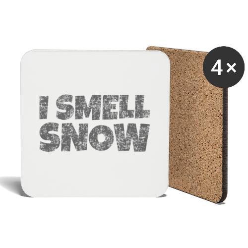 I Smell Snow (Dunkelgrau) Schnee, Wintersport, Ski - Untersetzer (4er-Set)