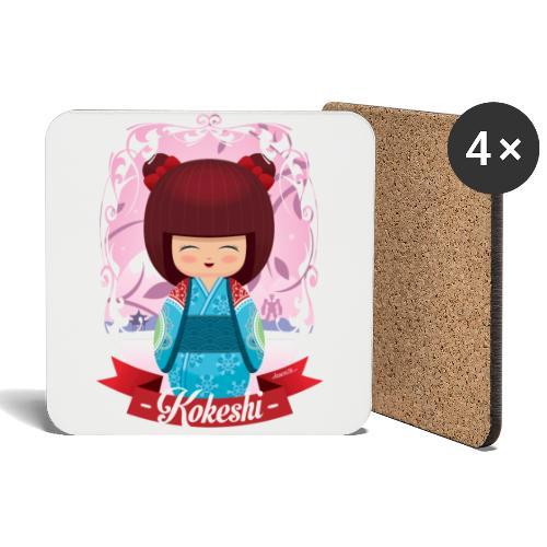 Kokeshi mod.2 - Sottobicchieri (set da 4 pezzi)