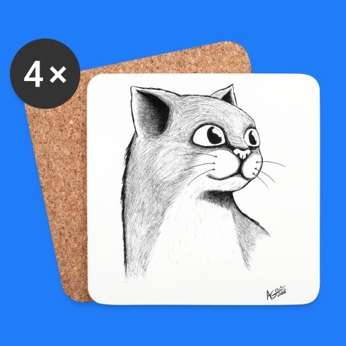 CAT HEAD by AGILL - Dessous de verre (lot de 4)