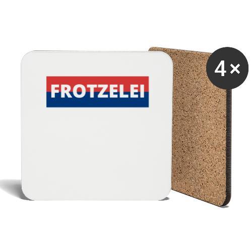 FROTZELEI - Polizeikontrolle Geschenk Autofahrer - Untersetzer (4er-Set)