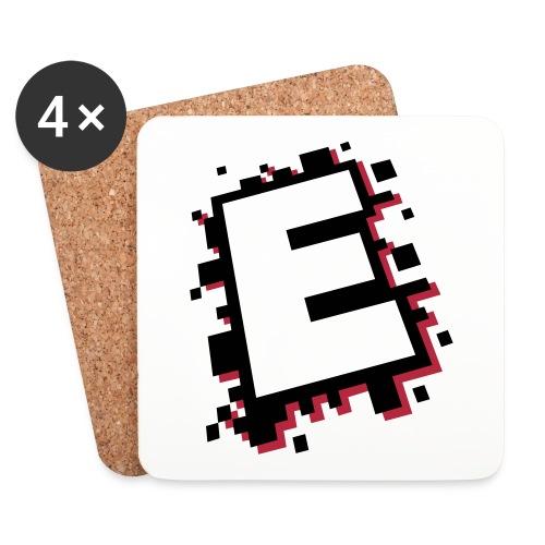 design_E_black_pink - Coasters (set of 4)