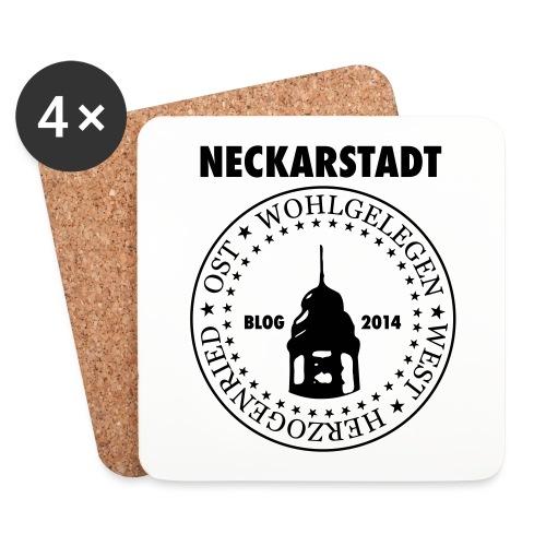 Neckarstadt Blog seit 2014 (Logo dunkel) - Untersetzer (4er-Set)