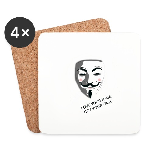 Anonymous Love Your Rage - Coasters (set of 4)