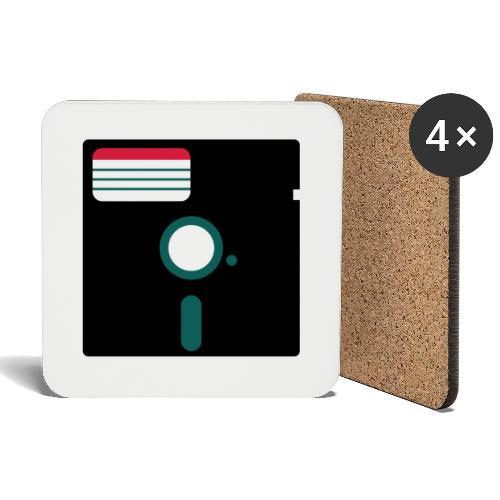 5 1/4 inch floppy disk - Lasinalustat (4 kpl:n setti)