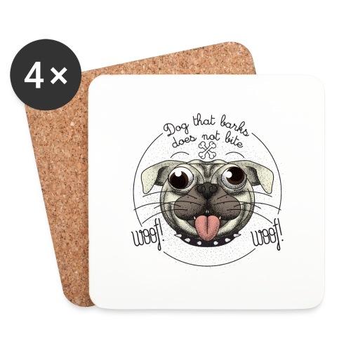 Dog that barks does not bite - Sottobicchieri (set da 4 pezzi)