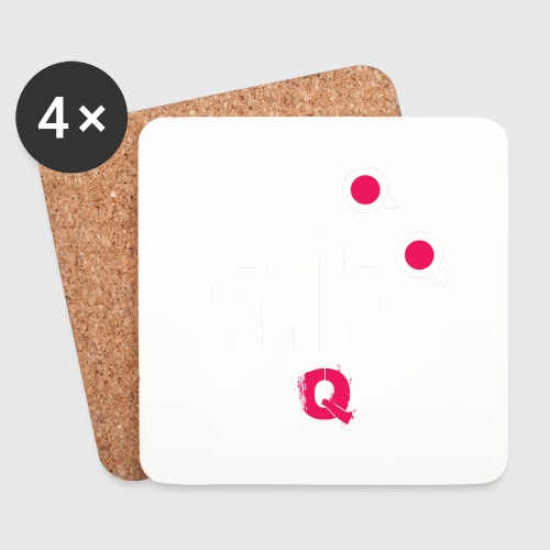 T-shirt FUQU logo colore bianco - Sottobicchieri (set da 4 pezzi)