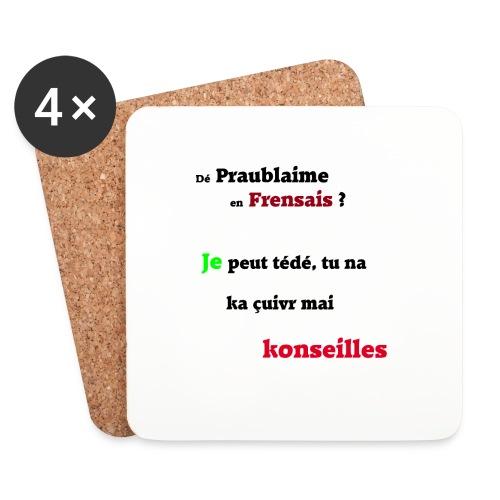 Probleme en français - Dessous de verre (lot de 4)