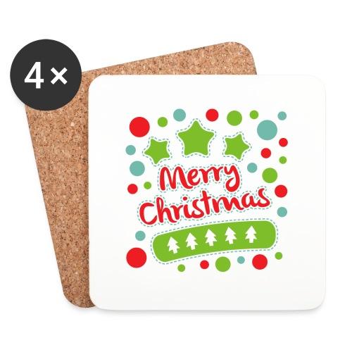 Merry Christmas - Coasters (set of 4)