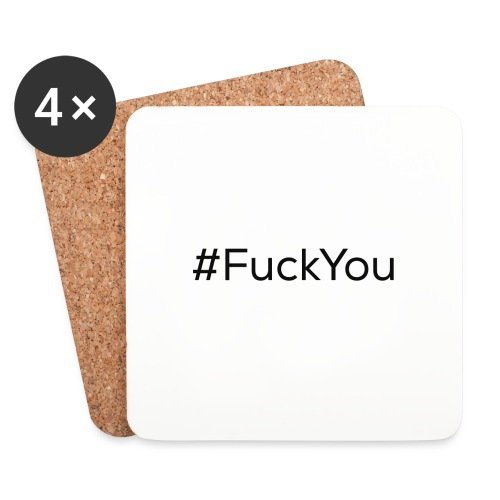 #FuckYou Black - Sottobicchieri (set da 4 pezzi)