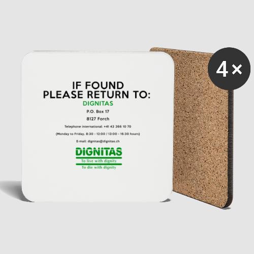 Dignitas - If found please return joke design - Coasters (set of 4)