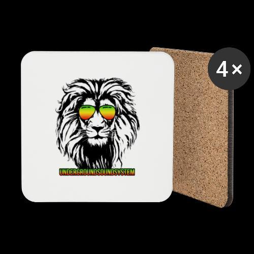 RASTA REGGAE LION - Untersetzer (4er-Set)