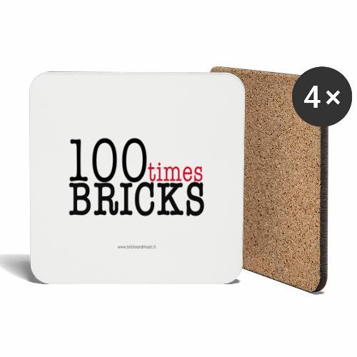 100times BRICKS - Sottobicchieri (set da 4 pezzi)