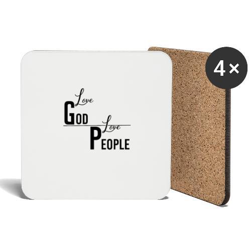 Love GOD Love PEOPLE - Collection - Untersetzer (4er-Set)