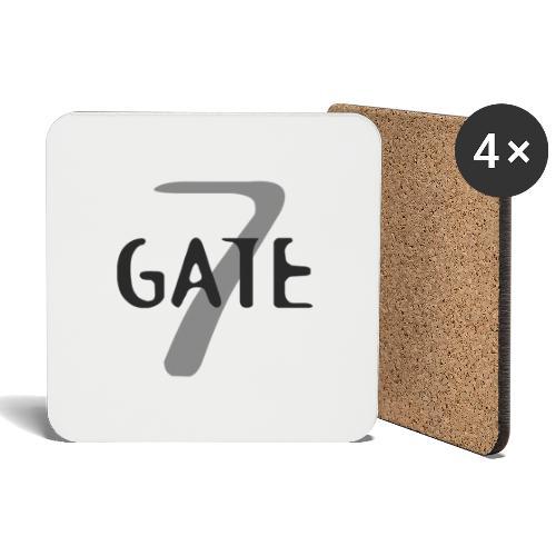 Gate-7 Logo dunkel - Untersetzer (4er-Set)