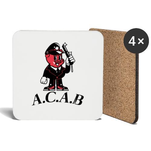 A.C.A.B cochon - Dessous de verre (lot de 4)