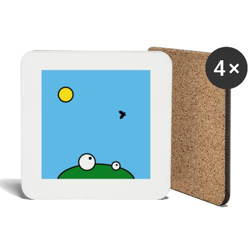 Hungry Frog - lunch time - Coasters (set of 4)
