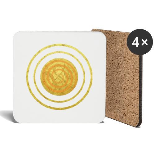 Glückssymbol Sonne - positive Schwingung - Spirale - Untersetzer (4er-Set)