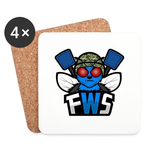 FWS Logo - Lasinalustat (4 kpl:n setti)