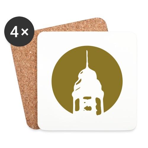 Logo invertiert (Alternative Farben) - Untersetzer (4er-Set)