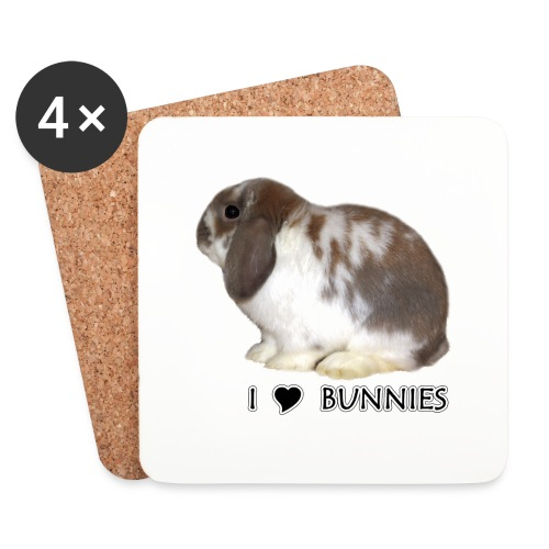 I Love Bunnies Luppis - Lasinalustat (4 kpl:n setti)