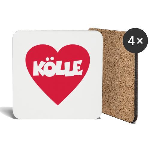 I Love Kölle - Ein Herz für Köln - Untersetzer (4er-Set)