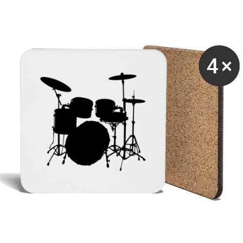Bateria negro drums - Posavasos (juego de 4)