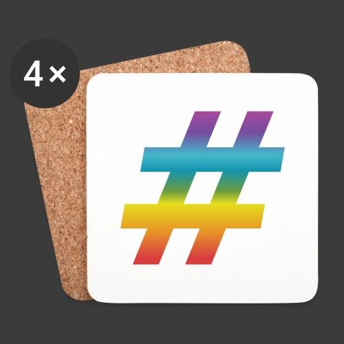 rainbow hash include - Coasters (set of 4)