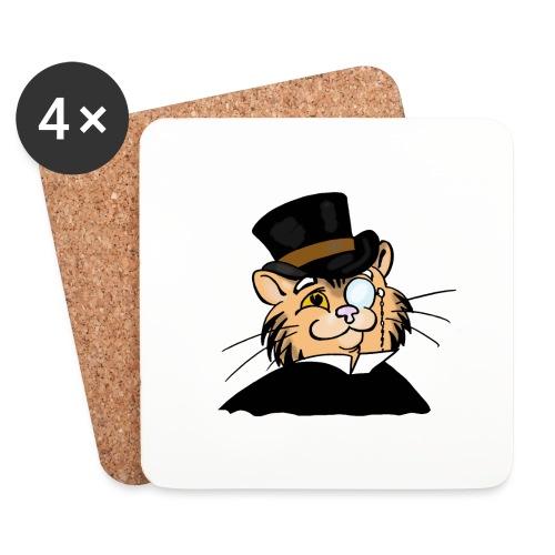 Gatto nonno - Sottobicchieri (set da 4 pezzi)