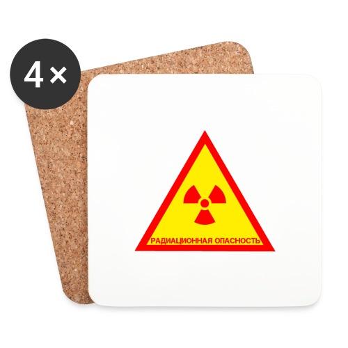 Achtung Radioaktiv Russisch - Untersetzer (4er-Set)