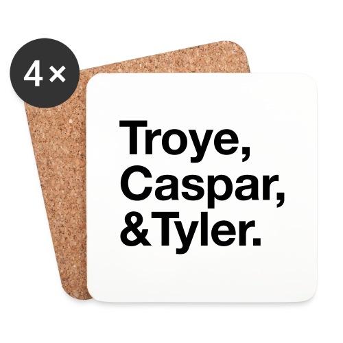 TROYE CASPAR AND TYLER - YOUTUBERS - Sottobicchieri (set da 4 pezzi)