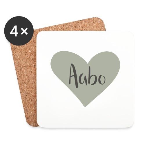 Aabo - hjärta - Underlägg (4-pack)