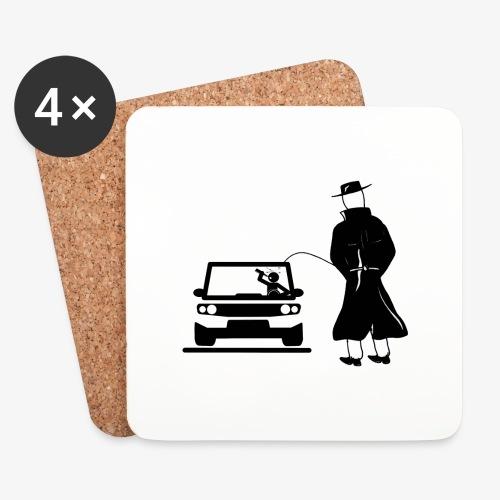 Pissing Man against drunk driving - Untersetzer (4er-Set)