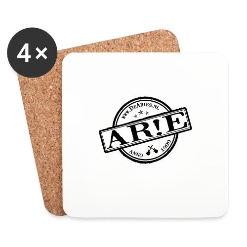 Backdrop AR E stempel zwart gif - Onderzetters (4 stuks)