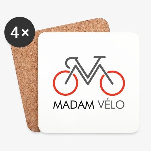Madame Vélo-logo en tekst - Onderzetters (4 stuks)