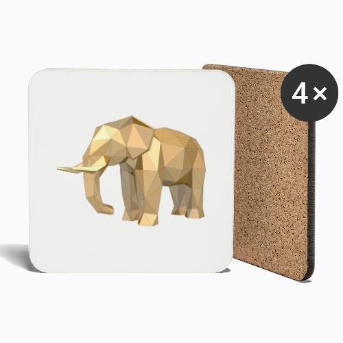 elephant geometric - Coasters (set of 4)