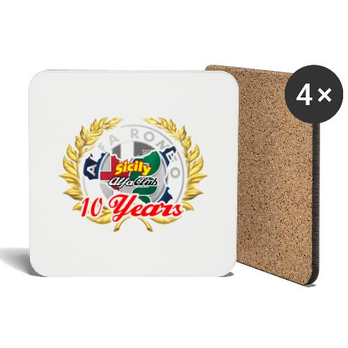 logo10 anni - Sottobicchieri (set da 4 pezzi)