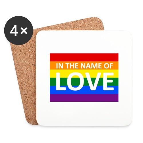 IN THE NAME OF LOVE RETRO T-SHIRT - Glasbrikker (sæt med 4 stk.)