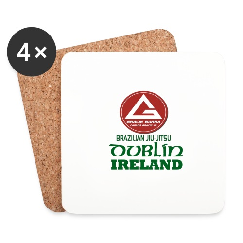 Gracie Barra Dublin Gaelic Celtic Font PNG - Coasters (set of 4)