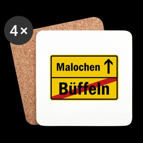 bueffeln vs. malochen - Untersetzer (4er-Set)