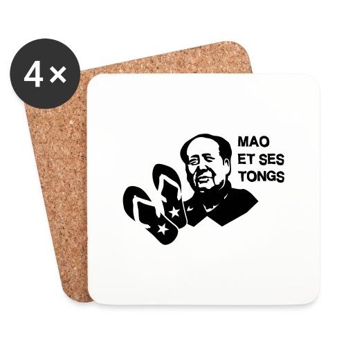 MAO et ses tongs - Dessous de verre (lot de 4)