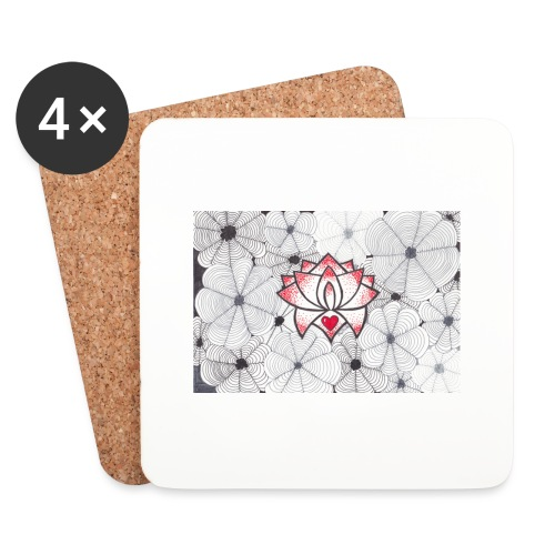 Lotus Heart - Sottobicchieri (set da 4 pezzi)