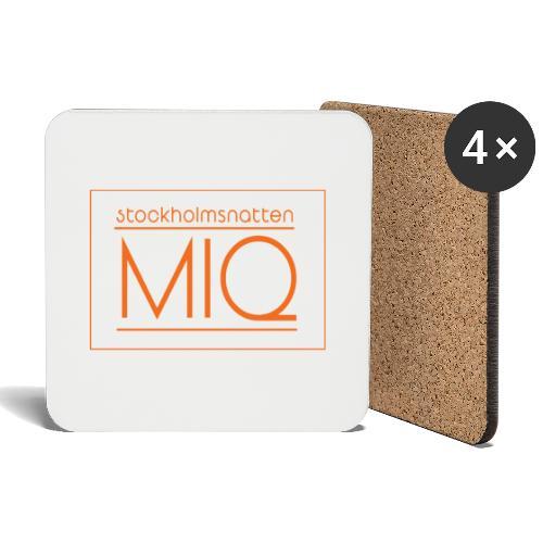 MIQ - STOCKHOLMSNATTEN Singel Cover Logotype - Underlägg (4-pack)