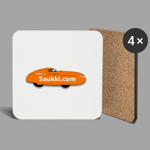 Saukki.com - Lasinalustat (4 kpl:n setti)