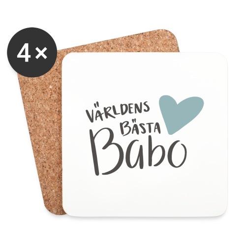 Världens bästa Babo - Underlägg (4-pack)